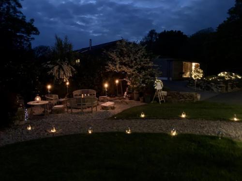 Romantic fire pit